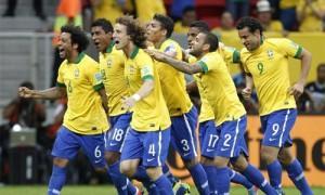 Confederations Cup Brasile esultanza contro Giappone