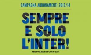 Inter campagna abbonamenti 2013 14