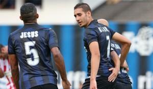 Inter-Vicenza esultanza Belfodil Juan Jesus Cambiasso