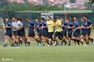 ritiro di Pinzolo - Inter primo allenamento Appiano 2013-14
