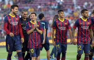 PRESENTATION OF FC BARCELONA'S PLAYING STAFF