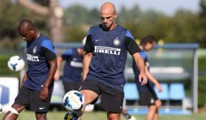 Esteban Cambiasso allenamento Appiano