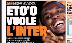 Prima pagina Samuel Eto'o Inter