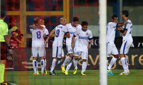 video Catania vs Inter esultanza
