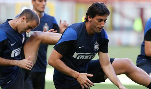 Diego Milito rifinitura Inter-Juve