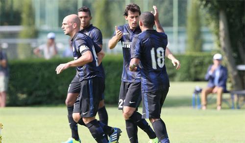 Inter vs Lugano esultanza