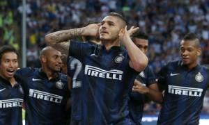 Mauro Icardi esultanza Inter-Juventus