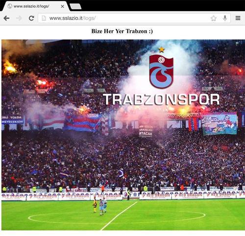 Attacco hacker Trabzonspor sito Lazio