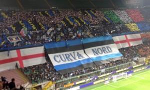 Curva Nord coreografia Inter-Roma