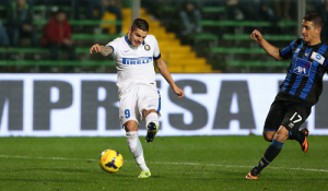 Mauro Icardi due punte Atalanta-Inter