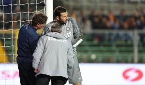 Samir Handanovic contusione Atalanta-Inter