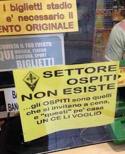 Vendita biglietti settore ospiti Fiorentina-Juventus