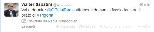 Tweet Sabatini Nainggolan
