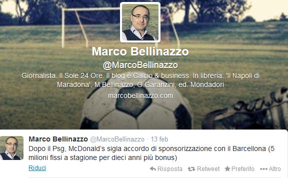 Tweet Bellinazzo