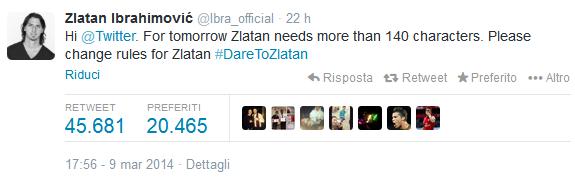 Ibrahimovic Twitter