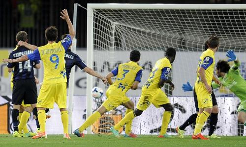 Chievo-Inter gol Andreolli