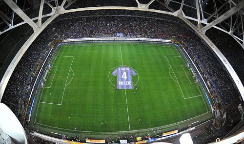 Javier Zanetti foto magli centrocampo Inter-Lazio