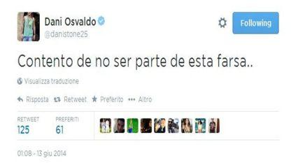 Osvaldo tweet Brasile-Croazia