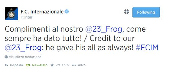 Tweet Inter Ranocchia