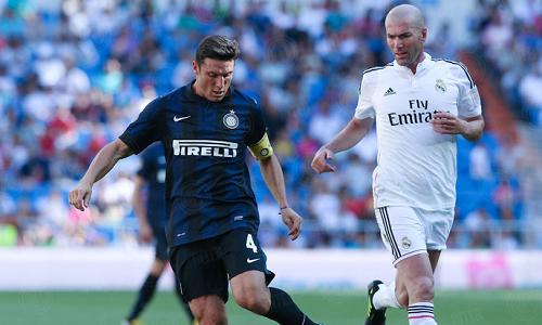 Zidane Zanetti Bernabeu leggende Real Madrid Inter