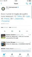 tweet numeri inter
