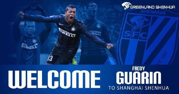 FOTO TWEET / UFFICIALE: Guarin è un nuovo giocatore dello Shanghai Shenhua