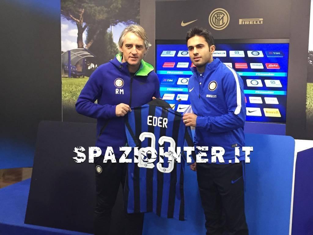 Conferenza stampa di Eder: