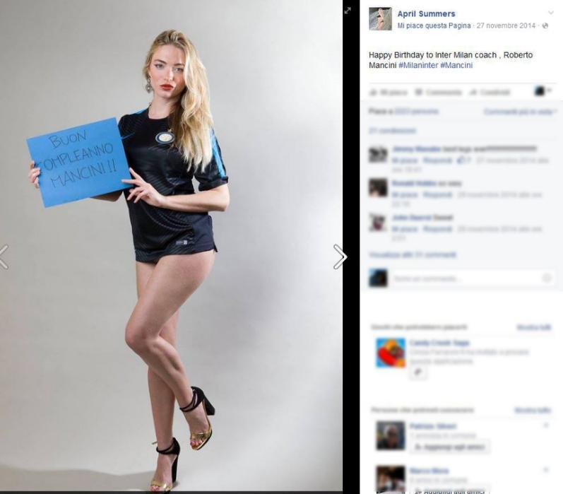 PHOTOGALLERY - April Summers si schiera con Mancini, ecco le foto che lo dimostrano