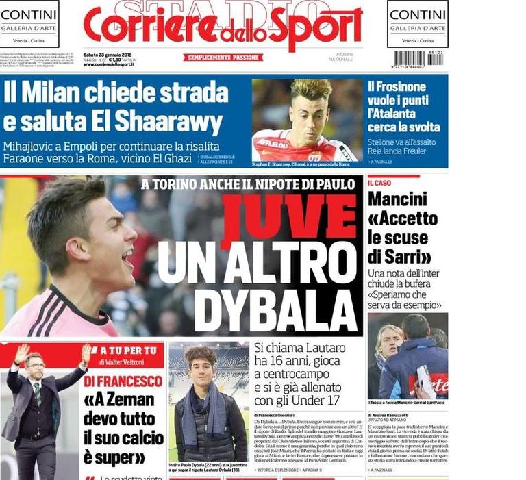 RASSEGNA STAMPA - CdS: Mancini accetta le scuse di Sarri