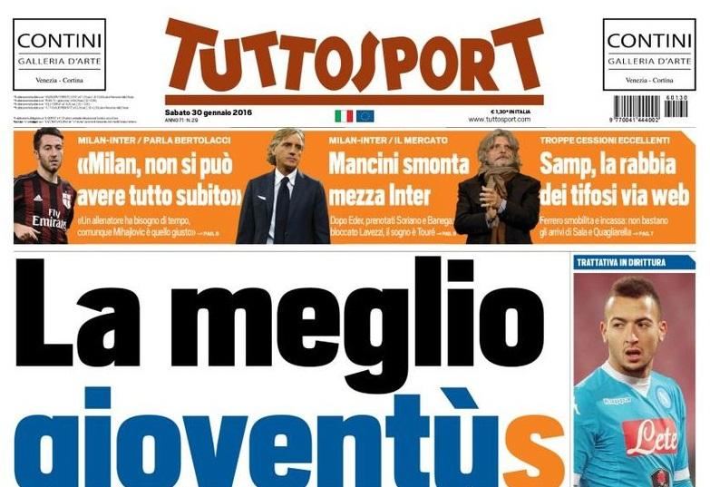 RASSEGNA STAMPA - TS: Mancini smonta mezza Inter