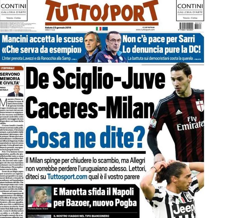 RASSEGNA STAMPA - TS - Mancini accetta le scuse: