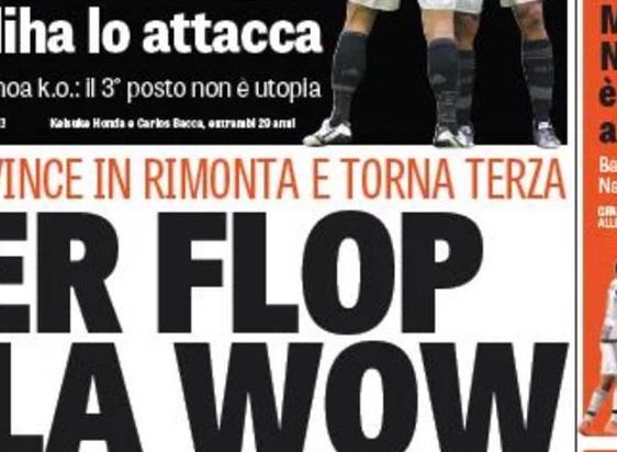 RASSEGNA STAMPA - GdS: Inter flop, Viola wow