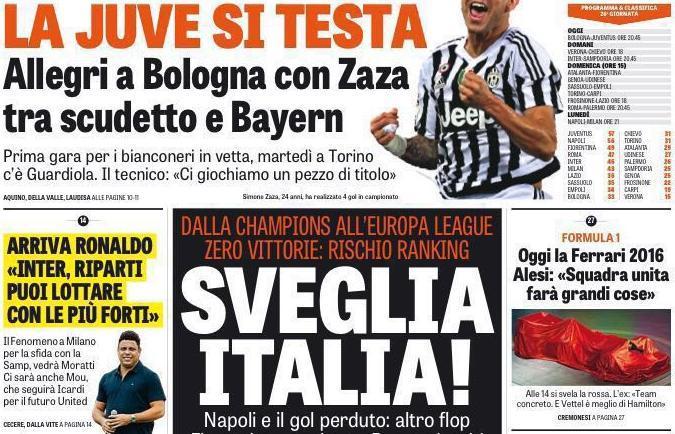 RASSEGNA STAMPA - Ronaldo a GdS: