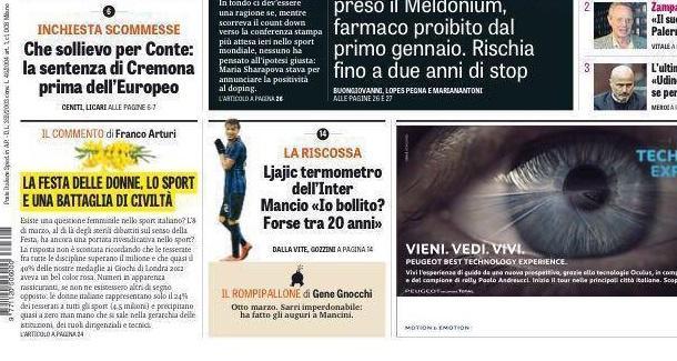 RASSEGNA STAMPA - GdS: Ljajic termometro dell'Inter, Mancini: