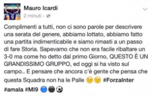 Parole Icardi post int-juve