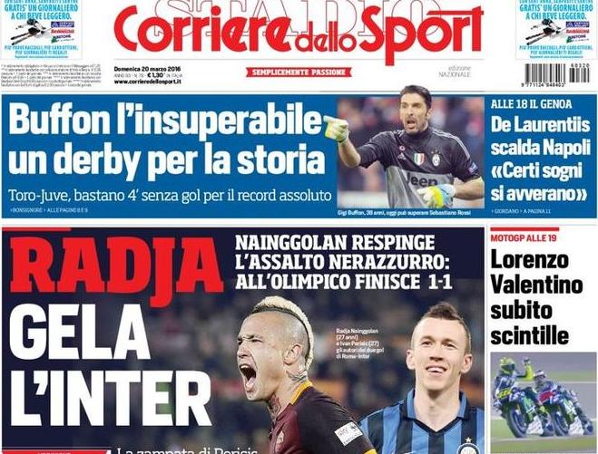 RASSEGNA STAMPA - CdS: Radja gela l'Inter