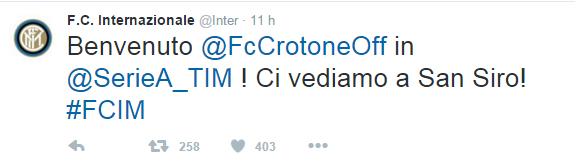 tweet crotone