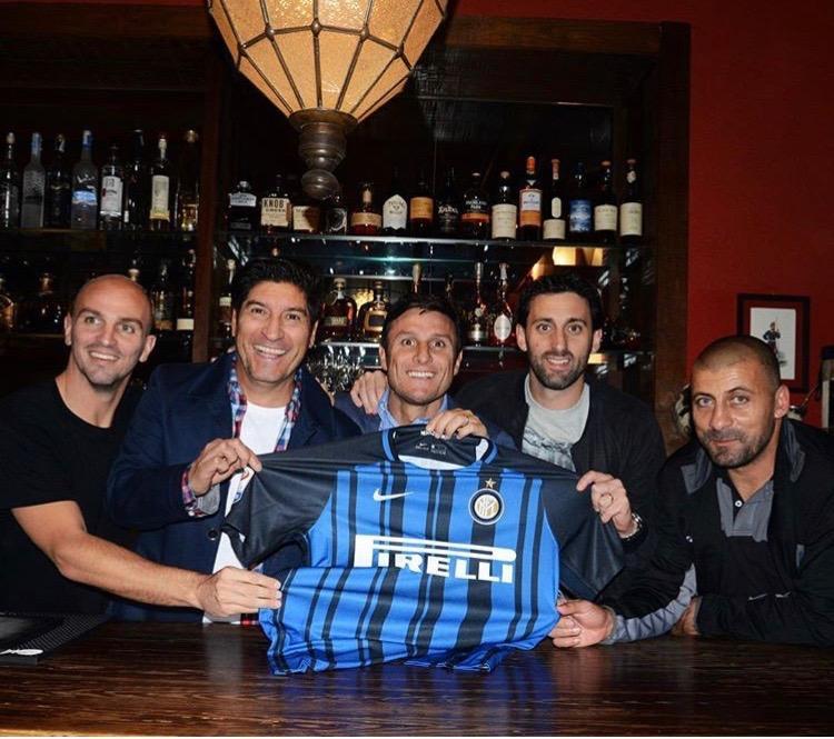 Derby amarcord, Zanetti a cena con i compagni argentini