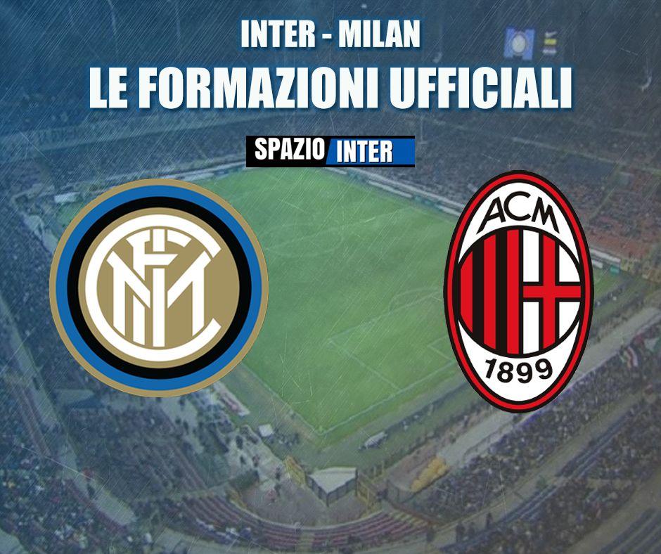 Inter-Milan, ecco le formazioni ufficiali del derby!