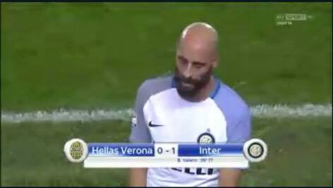 Verona-Inter, Borja Valero: