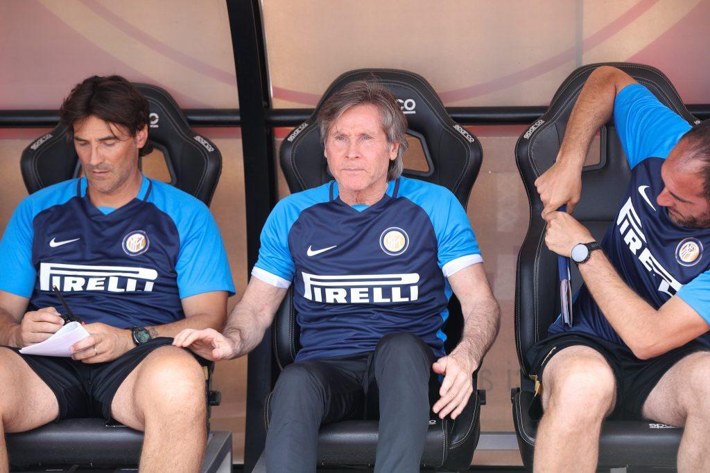 Show di Zanetti ed Oriali in conferenza stampa: