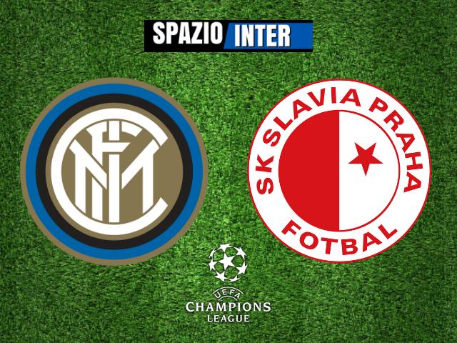 Inter-Slavia Praga: 1-1; l'Inter pareggia in casa la prima di Champions