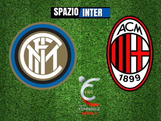 LIVE  Inter Femminile - Milan 1-3 (Marinelli 54' - Conc 35', 56', Salvatori Rinaldi 87') - Termina il match