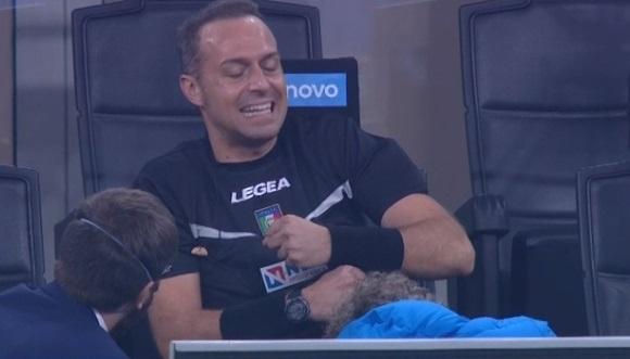 Inter-Parma, infortunio nel riscaldamento per l'arbitro Pairetto: al suo posto il quarto uomo Piccinini