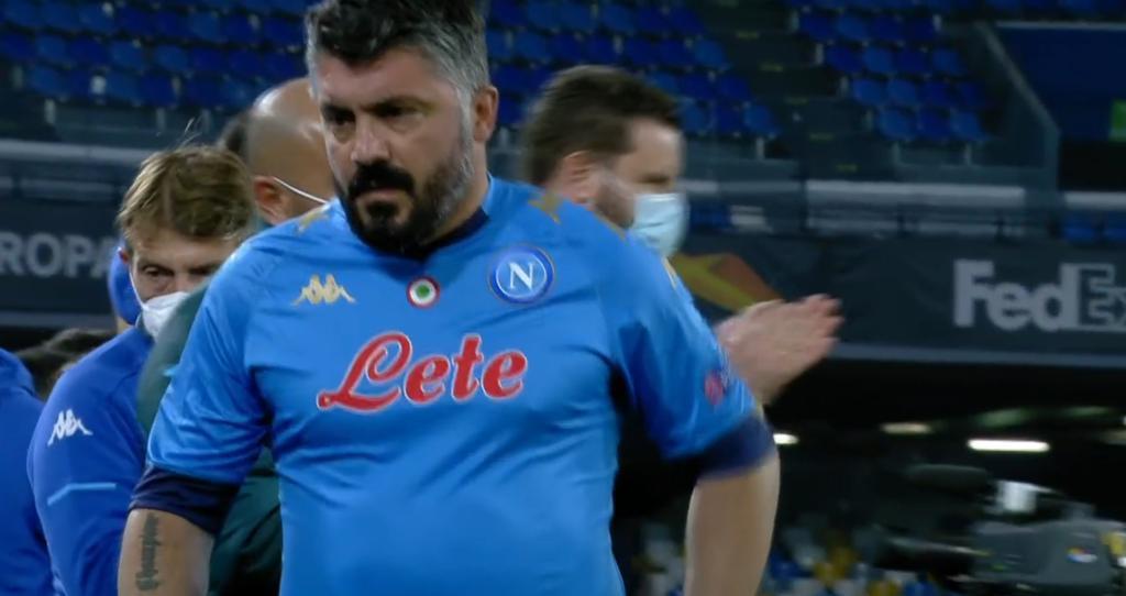 Gattuso al termine di Napoli-Roma:
