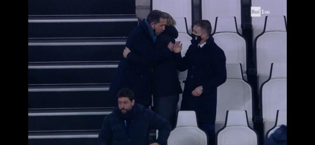 Scintille a fine Juve-Inter, Agnelli a Conte: