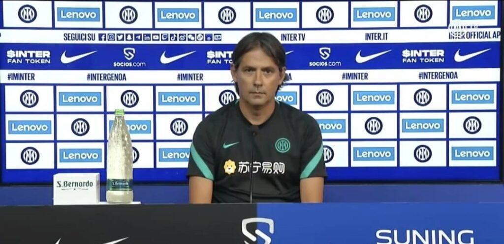 Inter-Genoa, Inzaghi in conferenza: