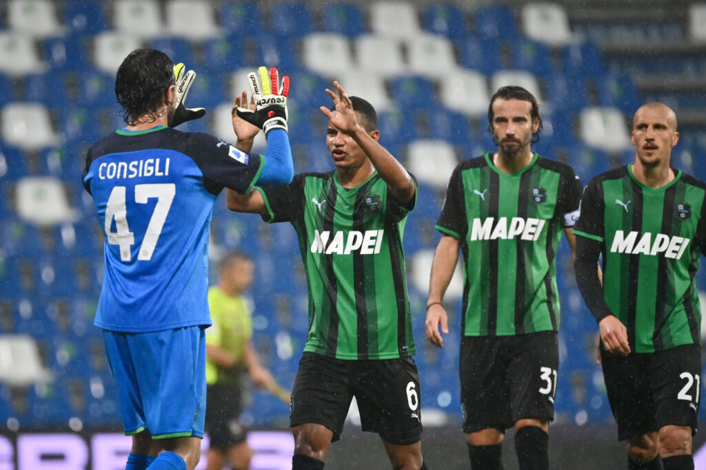 Verso Sassuolo-Inter, tre giocatori di Dionisi si sono allenati a parte