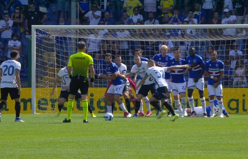 Sampdoria-Inter, il gol di Dimarco a più di 100 km/h