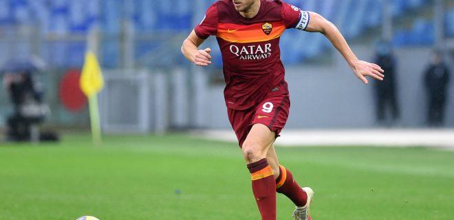 Edin Dzeko of Roma, AS Roma v FC Inter, Serie A PUBLICATIONxINxGERxSUIxAUTxONLY Copyright: xFotografo01x/xIPAx/xFotografo01x 0